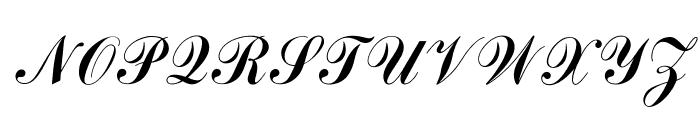 OPTICommercial-Script Font UPPERCASE