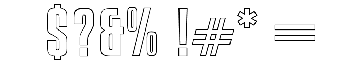 OPTICompitOutline Font OTHER CHARS