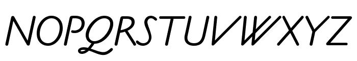 OPTICookeSans-Italic Font UPPERCASE
