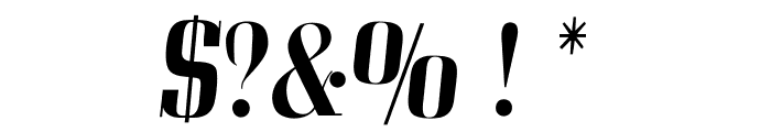OPTICorvinus-MediumItalic Font OTHER CHARS