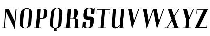 OPTICorvinus-MediumItalic Font UPPERCASE