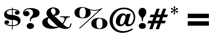 OPTICrawModern-Bold Font OTHER CHARS