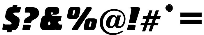 OPTICristetaXBoldItalic Font OTHER CHARS