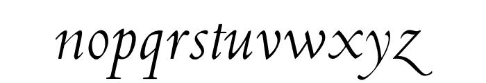 OPTICubaLibre-Italic Font LOWERCASE