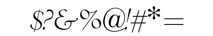 OPTICubaLibreTwo-Italic Font OTHER CHARS