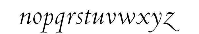 OPTICubaLibreTwo-Italic Font LOWERCASE