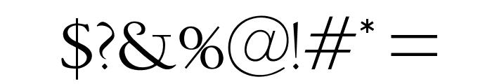 OPTIDeepdene Font OTHER CHARS