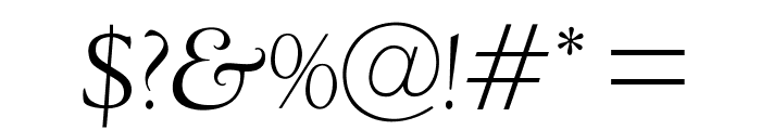 OPTIDeligne-Italic Font OTHER CHARS