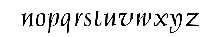 OPTIDelphin-One Font LOWERCASE