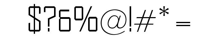 OPTIDistinctSLExtraLight Font OTHER CHARS