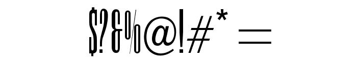 OPTIDomningTelegraph Font OTHER CHARS