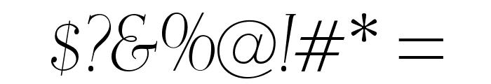 OPTIEisen-LightItalic Font OTHER CHARS