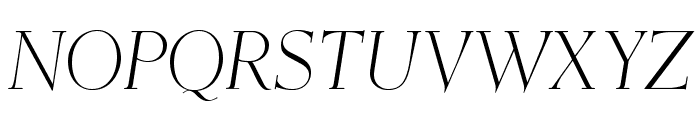 OPTIEisen-LightItalic Font UPPERCASE