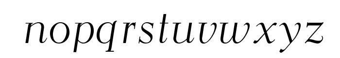 OPTIEisen-LightItalic Font LOWERCASE