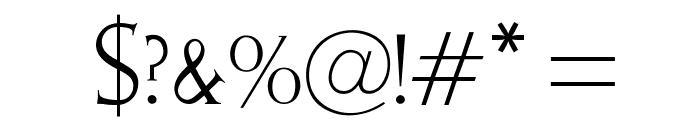 OPTIElizabeth-Roman Font OTHER CHARS