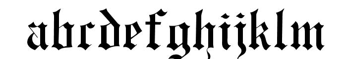 OPTIEngraversOldEnglish Font LOWERCASE