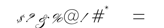 OPTIExcelsiorScript-SemiBd Font OTHER CHARS