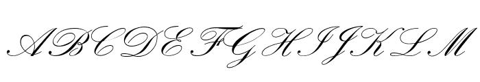 OPTIExcelsiorScript-SemiBd Font UPPERCASE
