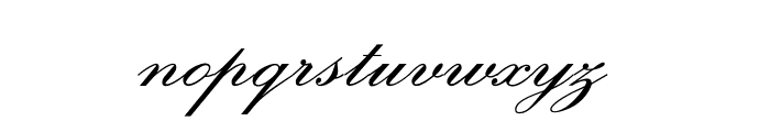 OPTIExcelsiorScript-SemiBd Font LOWERCASE