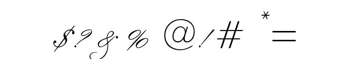 OPTIExcelsiorScript Font OTHER CHARS