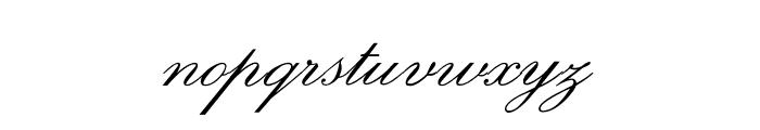 OPTIExcelsiorScript Font LOWERCASE