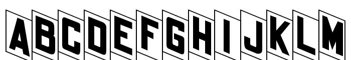 OPTIFanFold Font UPPERCASE