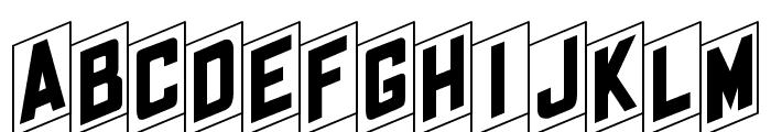 OPTIFanFold Font LOWERCASE