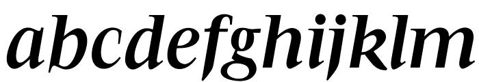 OPTIFavrileBold-Italic Font LOWERCASE