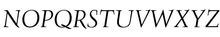 OPTIFavrileLight-Italic Font UPPERCASE