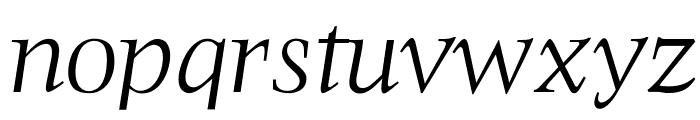 OPTIFavrileLight-Italic Font LOWERCASE