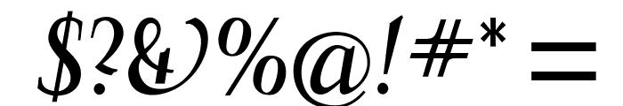 OPTIFavrileMedium-Italic Font OTHER CHARS