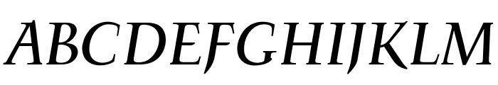 OPTIFavrileMedium-Italic Font UPPERCASE