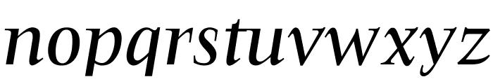 OPTIFavrileMedium-Italic Font LOWERCASE