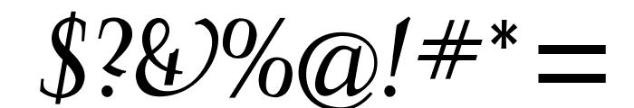 OPTIFavrileRegular-Italic Font OTHER CHARS