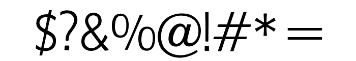 OPTIFob-Light Font OTHER CHARS