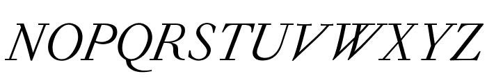 OPTIForquetOldstyle-Ita Font UPPERCASE