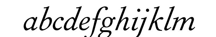 OPTIForquetOldstyle-Ita Font LOWERCASE