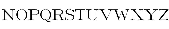 OPTIFrancoLight-Roman Font UPPERCASE