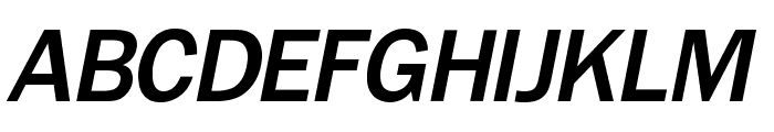 OPTIFranklinGothic-MediumItal Font UPPERCASE