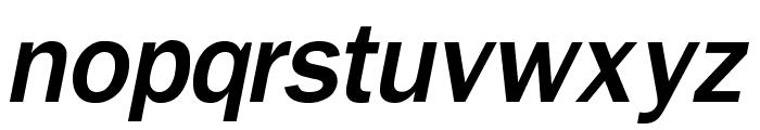 OPTIFranklinGothic-MediumItal Font LOWERCASE