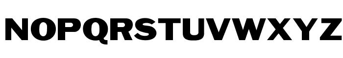 OPTIFranklinGothic-Wide Font UPPERCASE