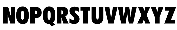OPTIFutura-ExtraBlackCond Font UPPERCASE