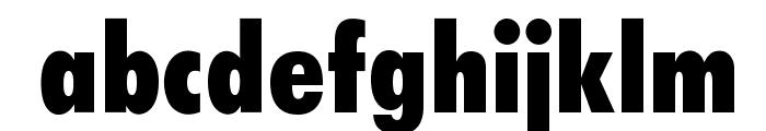 OPTIFutura-ExtraBlackCond Font LOWERCASE