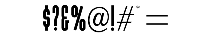 OPTIGamma Font OTHER CHARS