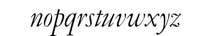 OPTIGaramondOld-Italic Font LOWERCASE