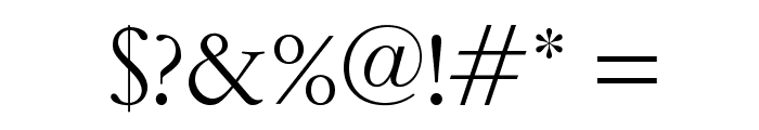 OPTIGaramondSpecial-Light Font OTHER CHARS