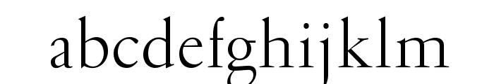 OPTIGaramondSpecial-Light Font LOWERCASE