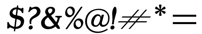 OPTIGargoyle-ItalicSupp Font OTHER CHARS