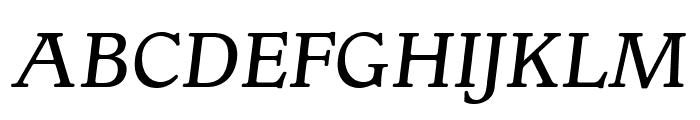OPTIGargoyle-ItalicSupp Font UPPERCASE
