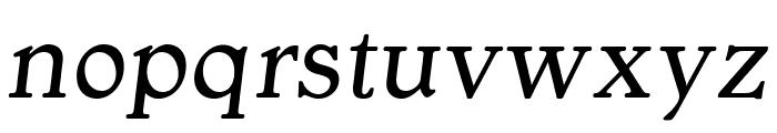 OPTIGargoyle-ItalicSupp Font LOWERCASE